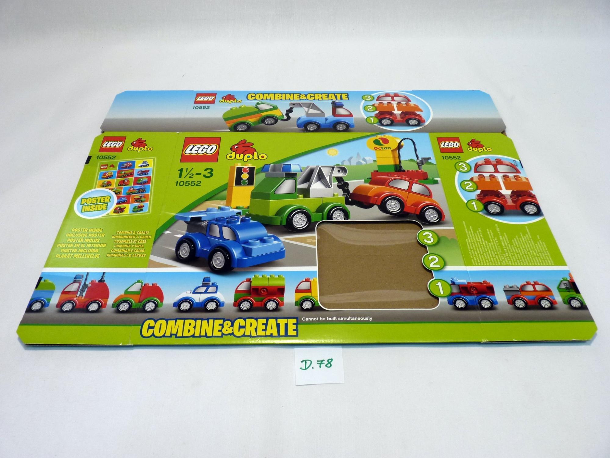 Lego Duplo 10552 Csak üres Doboz Kockafalu