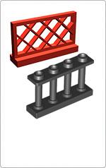 Kerítés, korlát elemek